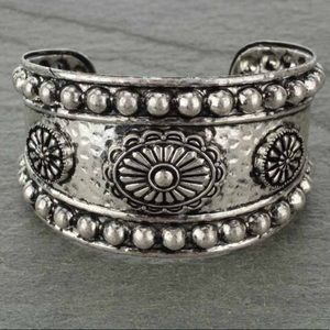 Western Concho Cuff Bracelet